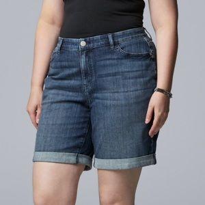 Simply Vera Wang Bermuda Shorts Mid Rise 12